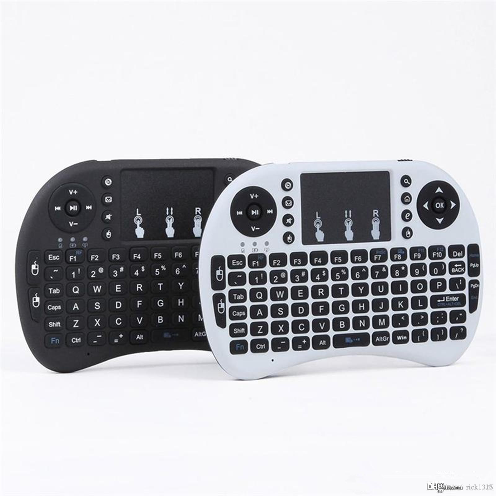 미니 RII I8 무선 키보드 2.4G 영어 공기 마우스 키보드 스마트 안드로이드 TV 박스 노트북 태블릿 PC에 대 한 원격 제어 터치 패드