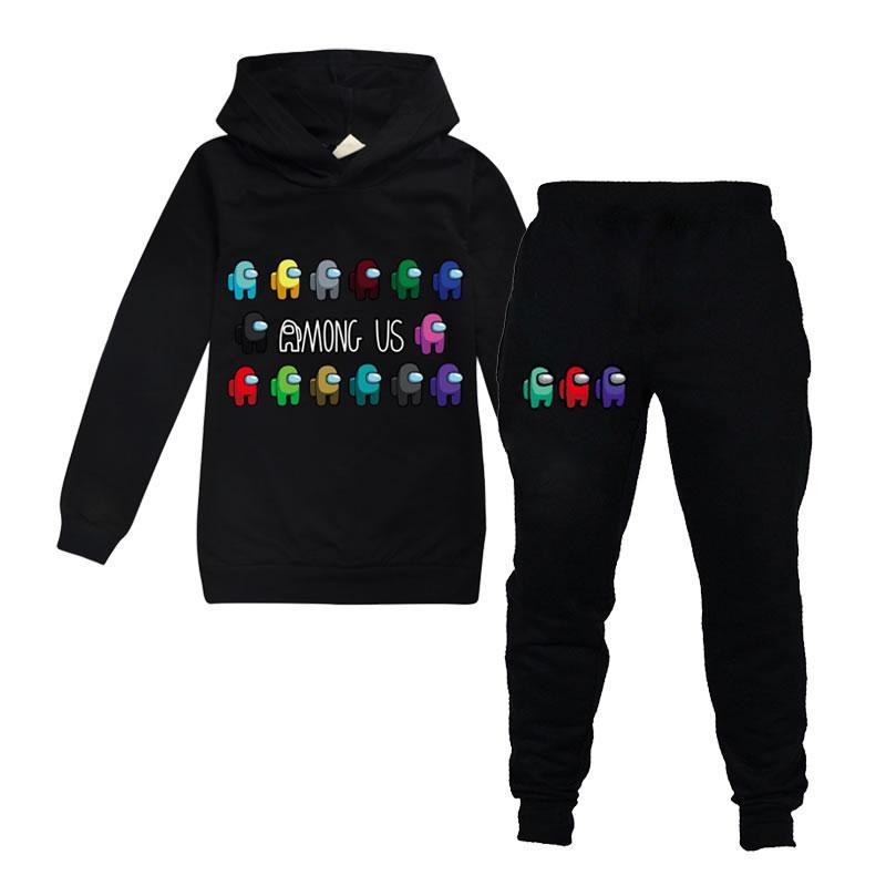 Tra gli Stati Uniti Game Outfit per Big Boy Girl Abbigliamento Primavera Autunno Bambino 3D Felpa con cappuccio Felpa + Pantalone 2PC Set Bambini Sport Boutique Tracksuit 14T