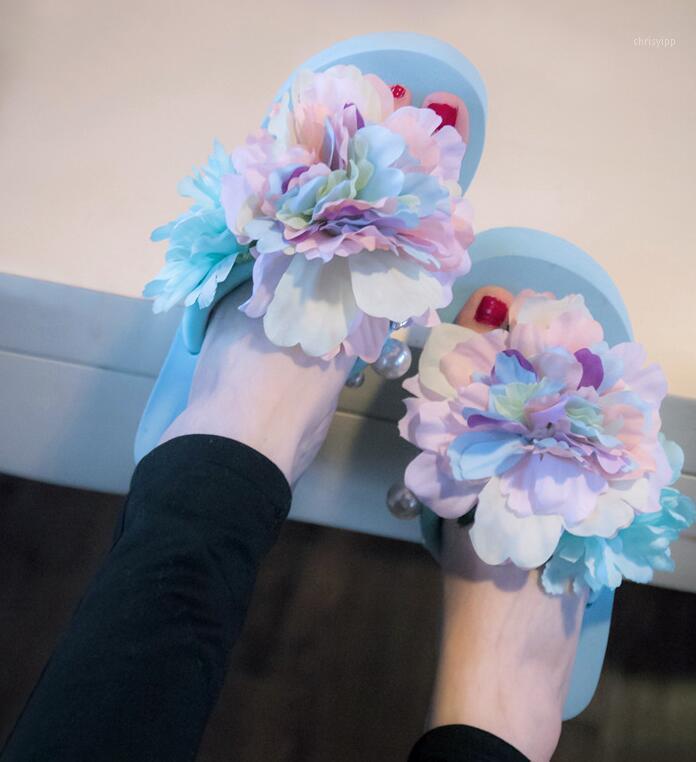 2020 Özel Teklif Satış Sandalet Kadınlar Kadın Sandalet Terlik Flip Flop Ile Terlik Yamaçları Rahat Büyük Yards Rahat Beach Shoes1