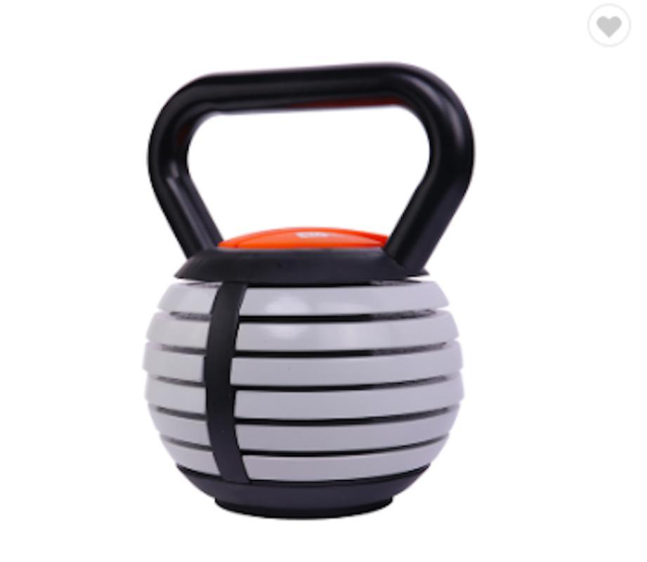 Haltères ajustable ajustable bouilloire Bell 18kg compétition case en fonte sable poignée de poignée en acier kettlebell