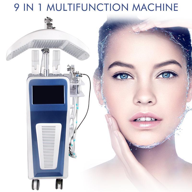 Uso del salone Uso Hydra Dermabrasion Macchina per il viso Macchina per il getto di ossigeno Peel Attrezzatura di bellezza idrafacciale con 7 colori PDT Terapia