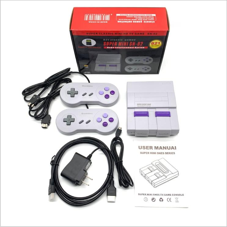 HDMI Video Game Out TV Super Mini SN-02 Console Controller can store 821 games Video Handheld for SFC games consoles