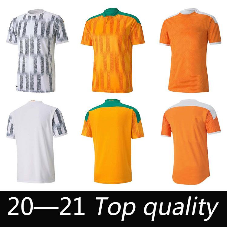 2021 2022 Cote D Igroire National Team Jerseys de fútbol Costa de marfil Drogba Kessie Zaha Cornet Hombres Homme Maillot de Foot Football Man Uniformes