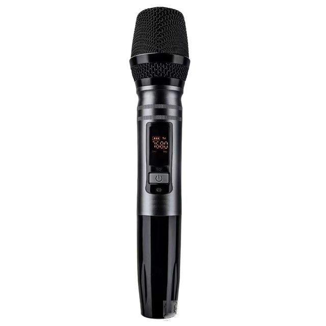 Cheap Microfoni Nuovo 1Pcs UX2 Uhf automatica wireless sistema microfono dinamico con ricevitore per amplificatore mixer altoparlante Desktop Bus Audio