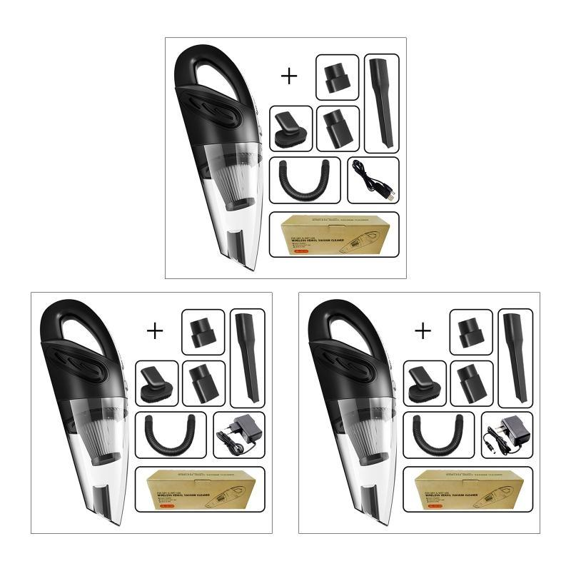 Taşınabilir USB / Kablosuz Çift Amaçlı El Elektrikli Süpürge Çok İşlevli Ev Araba Temizleyici Pratik Otomobil Ev