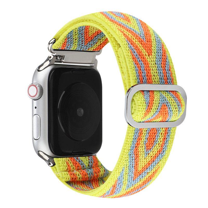 Naylon Kumaş Kayışı Bant Akıllı Kordonlu Saati Apple İzle Bilezik Için IWatch 3 4 5 SE 6 Serisi 38mm 40mm 42mm 44mm