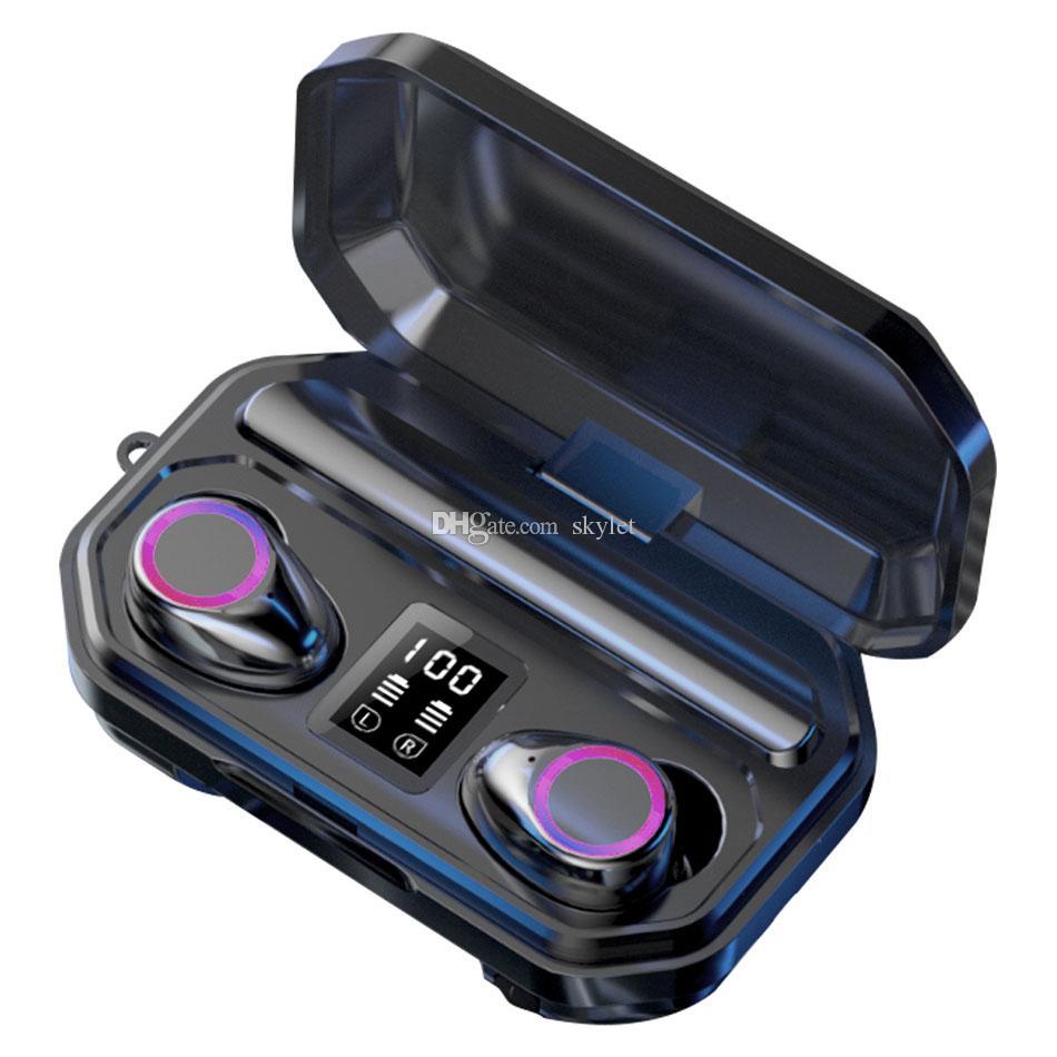 M12 Bluetooth Headphones Wireless Earphone Stereo Headset Flashlight LED Display Bluetooth 5.0 Headset with Retail Box