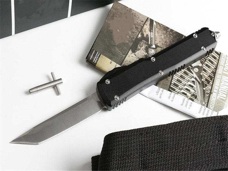 특별 제공 마이크 기술 UT 대형 칼 (4 개 스타일 둥근 생크) 사냥 접는 포켓 칼 XMA 선물 1pcs Freeshipping