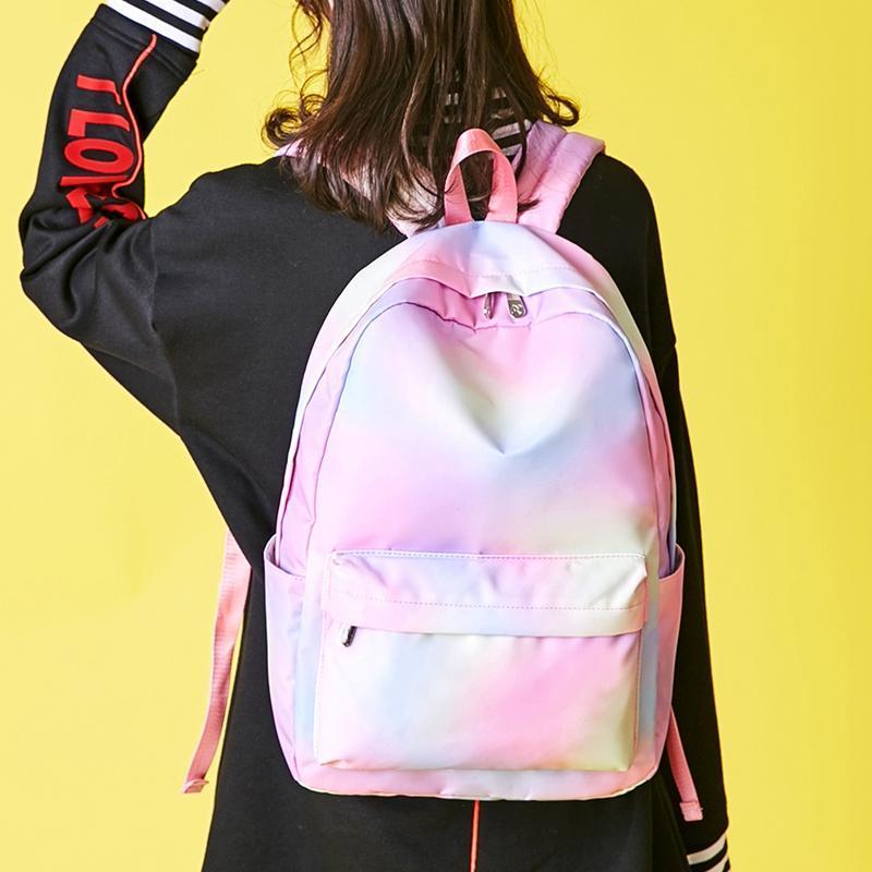 Большой размер Печать Женщин рюкзак Корейский Опрятный Подросток Девочка Школьная сумка Повседневные Дамы Путешествия Ежедневные Сумки Ноутбук Backpac