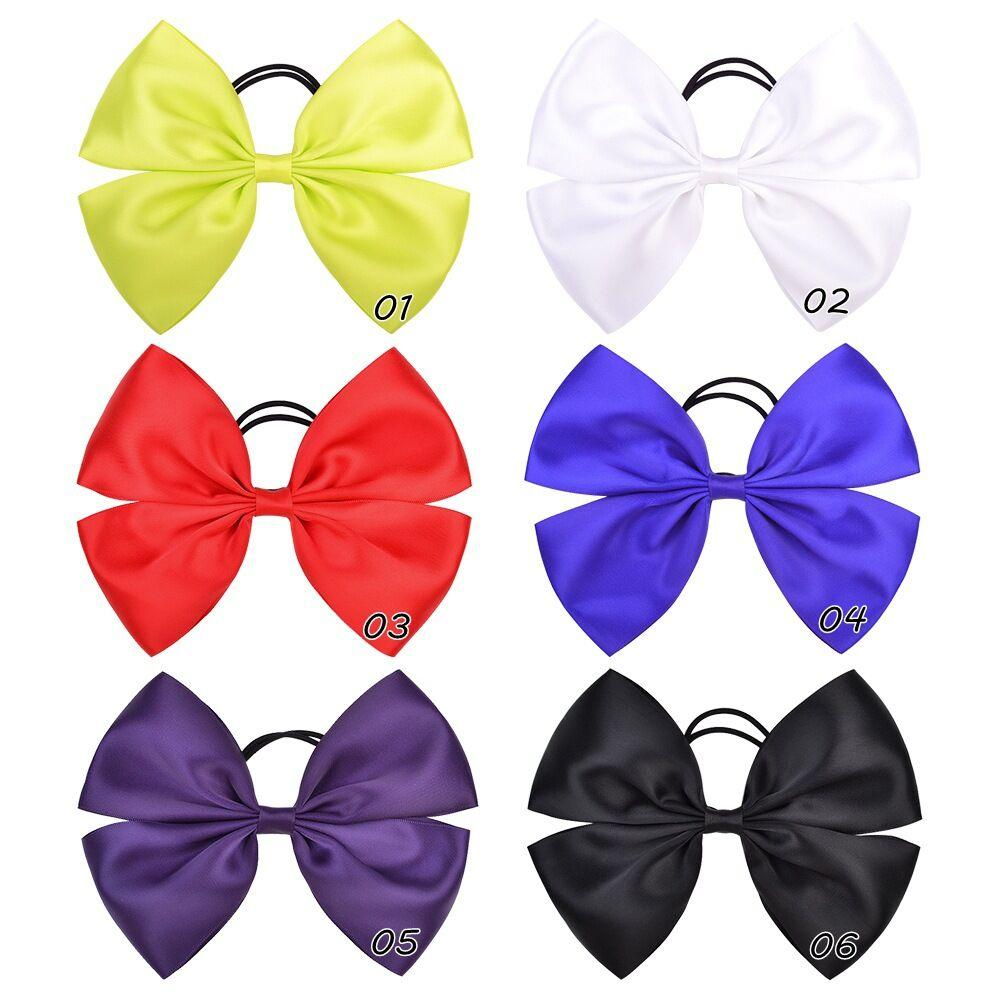 Baby Ponytail Holder Elastic Rubber Band big Bow Girls Hair Rope Children Kids Hair Accessorie