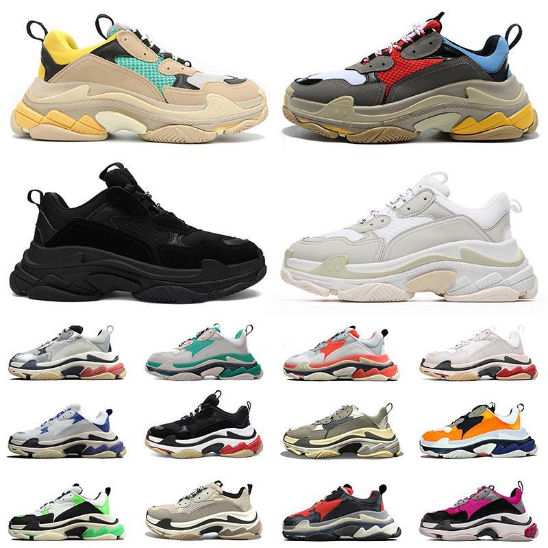2020 Лучшее Качество Дизайнер Paris Triple S Повседневная Обувь Мода Мужчины Женщины Папа Обувь Vintage Мужские Роскошные Кроссовки На Платформе Кроссовки Обувь