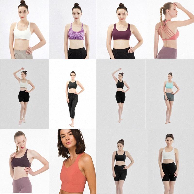 2021 Tasarımcılar Lulu Yogaworld Yoga Lu Tayt Bayan Moda Spor Sutyen Egzersiz Fitness Bras Underwears Spor Dikişsiz Giysi Set Setleri W5um #