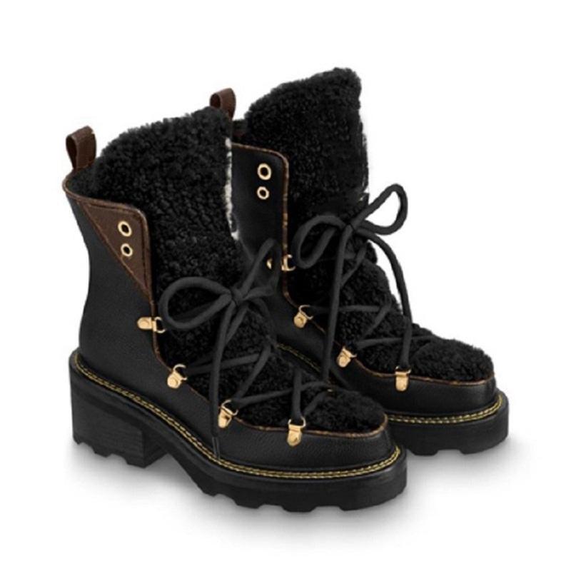 Snow Real Piel Diapositivas de cuero Impermeable Empresa de invierno Rodilla Caliente High Boots Fashion Botines Australia Shoe02 CH2 NSP9