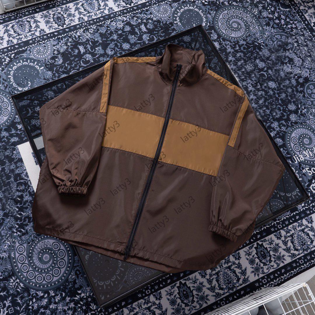 2021 EUR Tamanho dos EUA Jaqueta Mens Mens Marca Zipper Windbreaker Designer Luxurys Jaquetas Suéter Homens Luxo Trench Coats Streetwear 20121402t