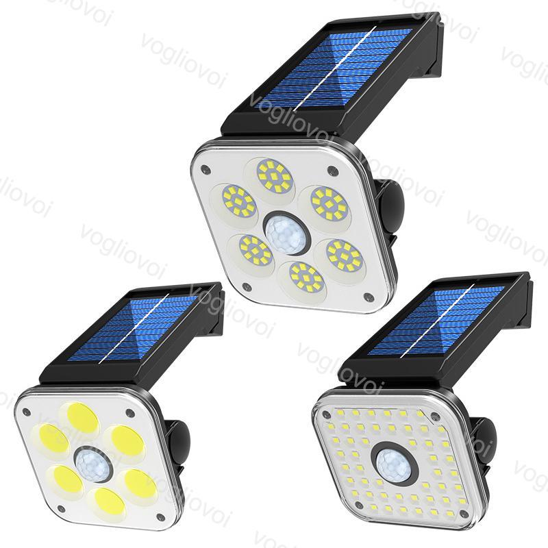 Solar Security Lights Motion Sensor 32LED 48LED 54COB Solar Panels Power Waterproof For Outdoor Garden Sunlight Wall Street DHL