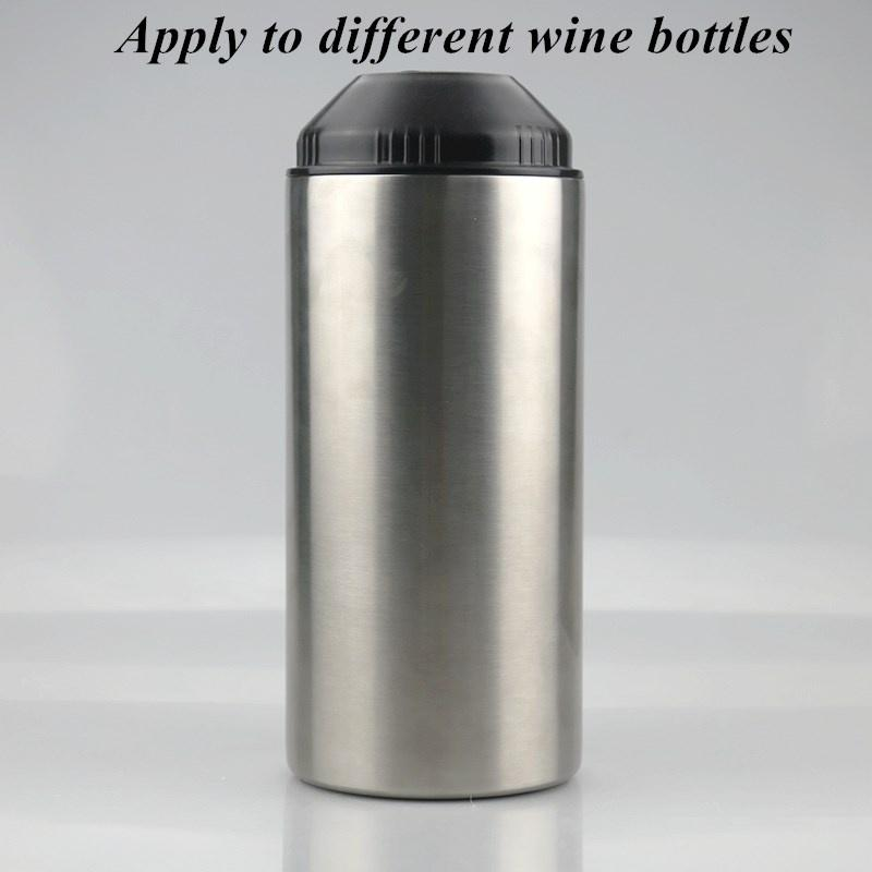Fedex Wine 25 onças garrafa refrigerador com tampa Coolers garrafa de aço inoxidável para o vinho tinto Prata Duplo Walled Duplas Vacuum Barra de Ferramentas A02
