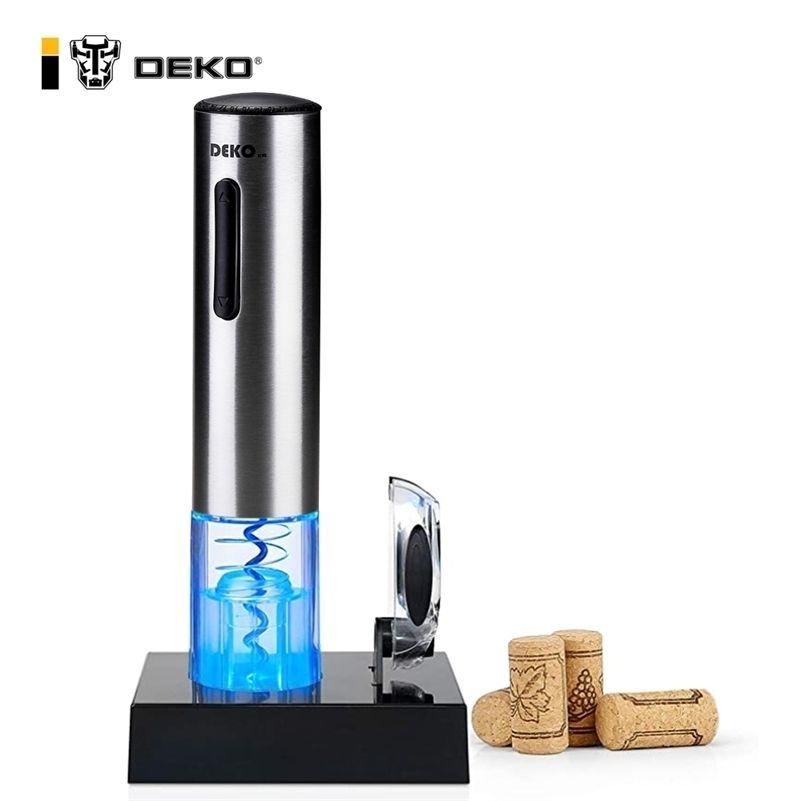 Deko Electric Wine Opener Recarregável Garrafa Aberta Automática Automaticamente para Folha Cortador Acessórios de Cozinha Ferramentas Householas 201208