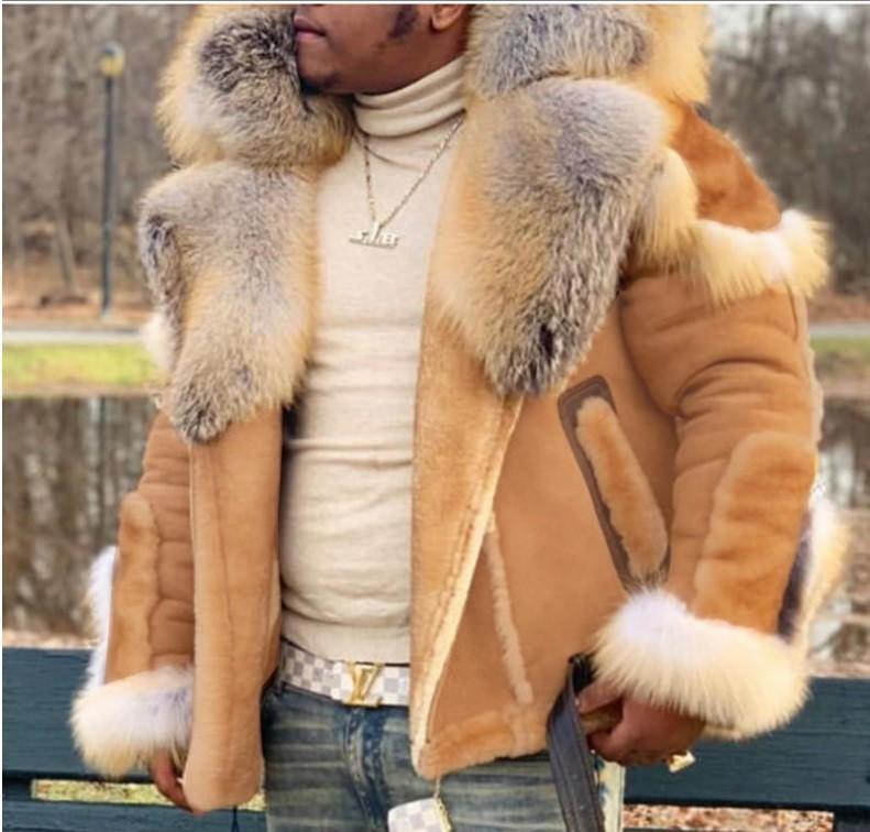 Ucuz 2020 Kış Yeni Faux Kürk erkek Giyim Tasarımcısı Kısa Mont Sıcak Kürk Yaka Artı Boyutu S-5XL Açık Ceketler