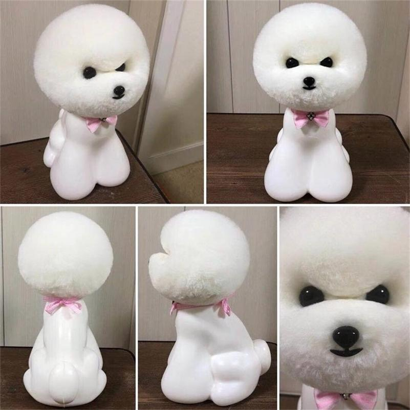 Free shipping Pet grooming tool Groomer trimming practice model dog fur teady bear head wig only(no mannequin) LJ200923