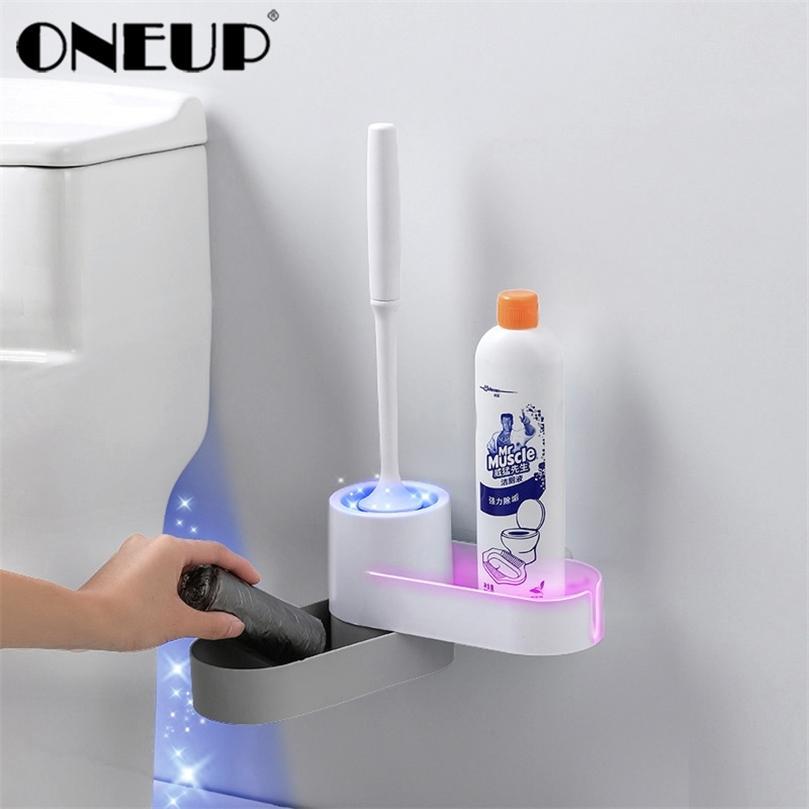 OneUP TPR Pincel Toilet Head Holder para Silicone Pincel Toilet País Pendurado Piso Casa de Limpeza Acessórios para Banheiro 201214