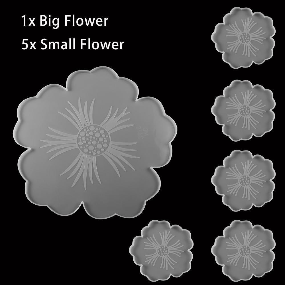 2021 ZB15 NUOVO 1 Set Vetro Vino Chiave trasparente Tazza di fiori Mat Epossidica Stampi in resina Epossidica Costumi da vetro per la resina fai da te muffa epossidica monili in silicone artigianato artigianale