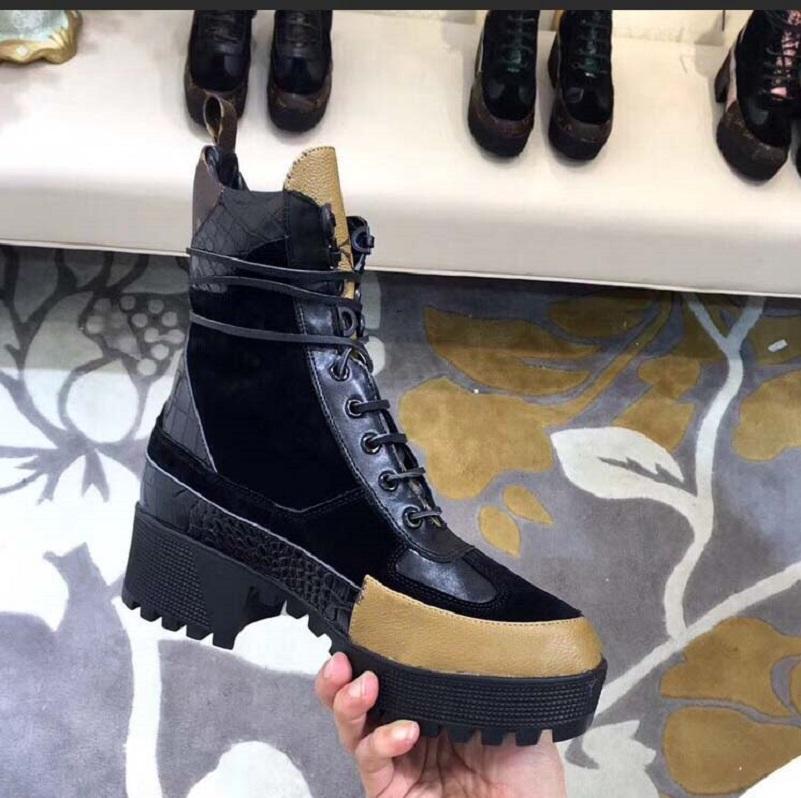 Clássicos requintados mulheres de couro botas de salto alto e genuíno botas de moda ao ar livre Martin Cowboy Western Booties 006