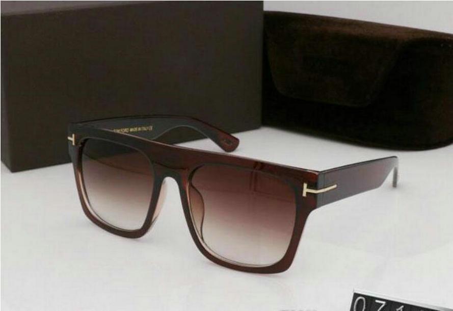 2020 gafas de sol redondas de la nueva manera para el hombre mujer Gafas de diseño tom Plaza Gafas de sol UV400 lentes vado tendencia con la caja gafas de sol de moda