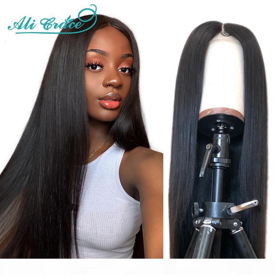 Али Грейс прямые человеческие парики для волос для женщин 180% плотность 360 кружевные фронтальные парики бразильские прямые кружевные фронт человеческие парики волос