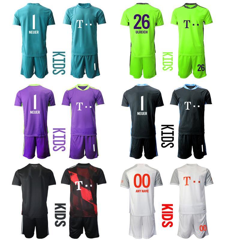 2021 Season Camisa de Futbol مخصص KID KIT حارس مرمى 26 Ulreich 1 Neuer Football Jerseys 5 Pavard 21 Hernandez Boys Office