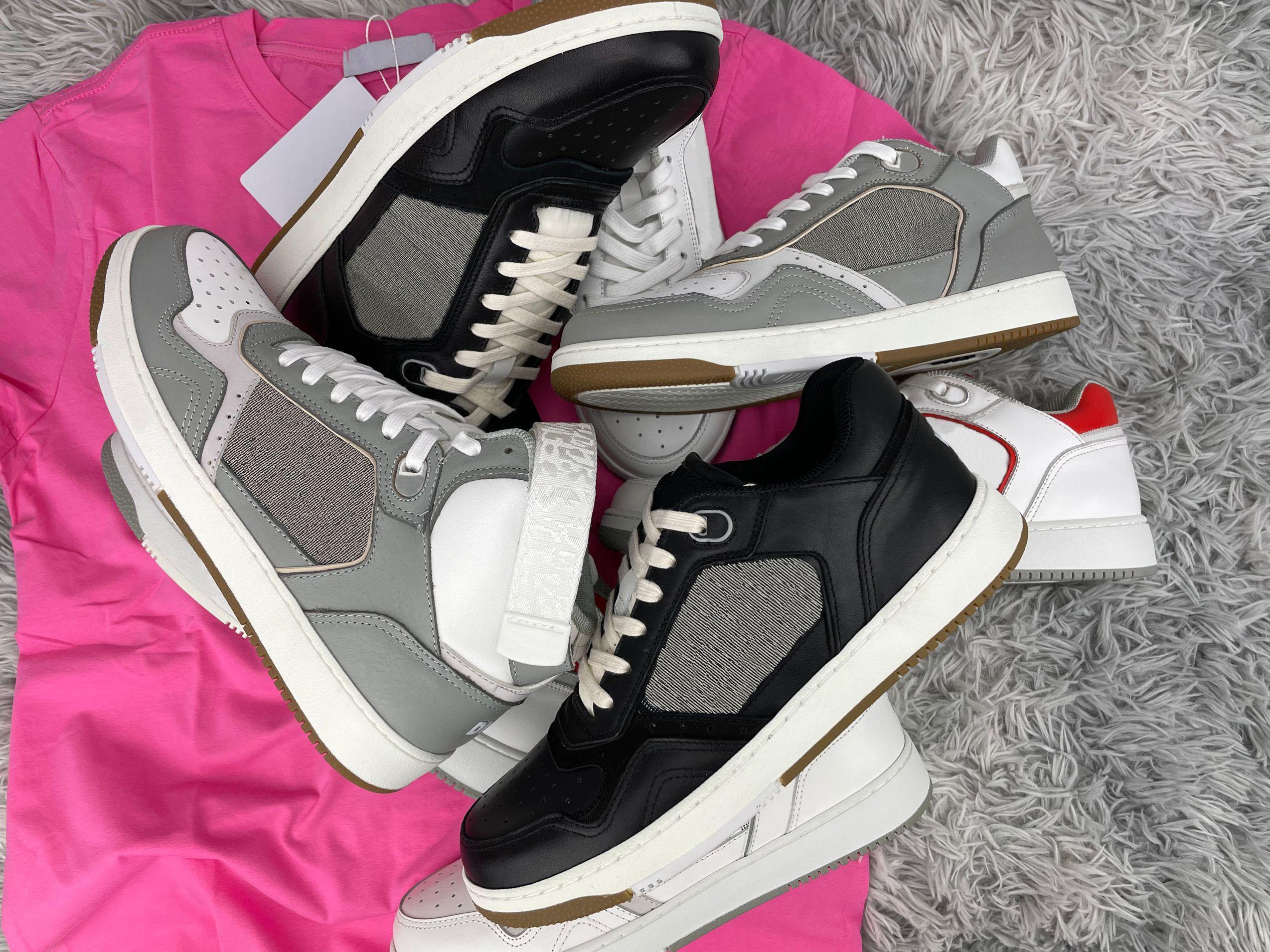 2021 Дизайнер B27 Кроссовки Печатные Натуральные Кожаные Кроссовки Досуг Низкая Верхняя Верхняя Верхняя Повседневная Обувь Мода Кожаные кроссовки