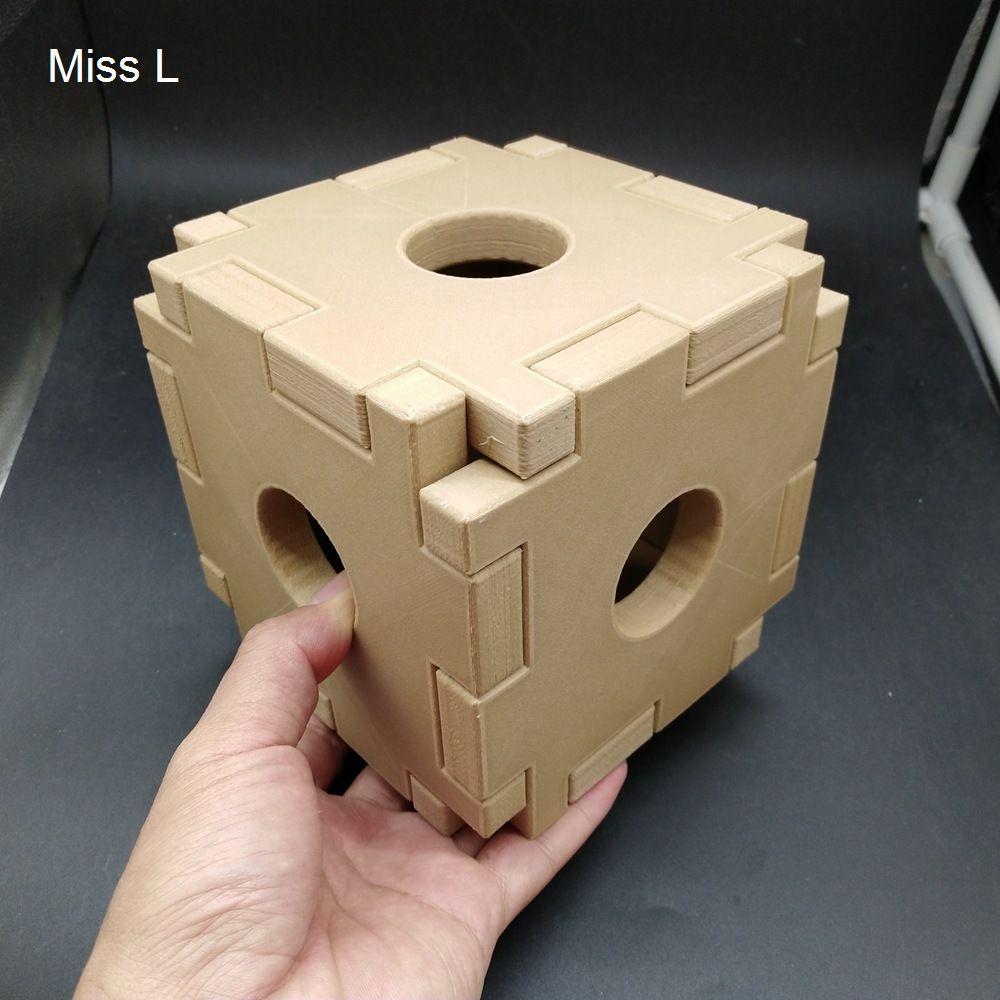 الهروب قفص لعبة 13 * 13 * 13 سم سر لغز مربع لعبة عائلة هدية لعبة كيد الدماغ دعابة نموذج PLA المواد
