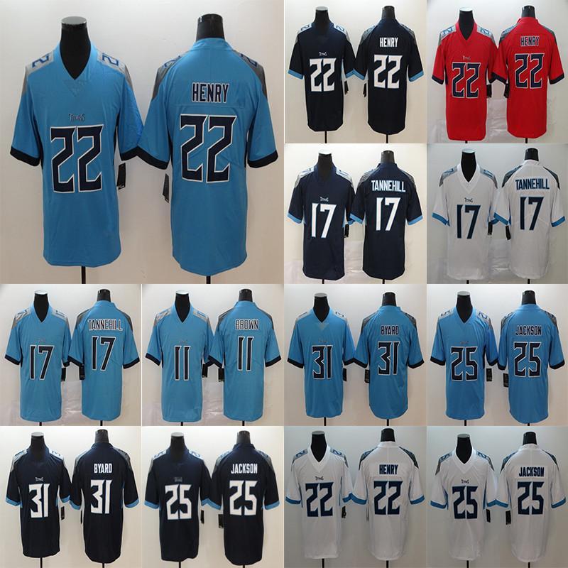 Derrick 22 Henry Ryan 17 Tannehill AJ 11 BraunTennesseeTitans25 Adoree Jackson 31 Byard2020 Fußballtrikot.