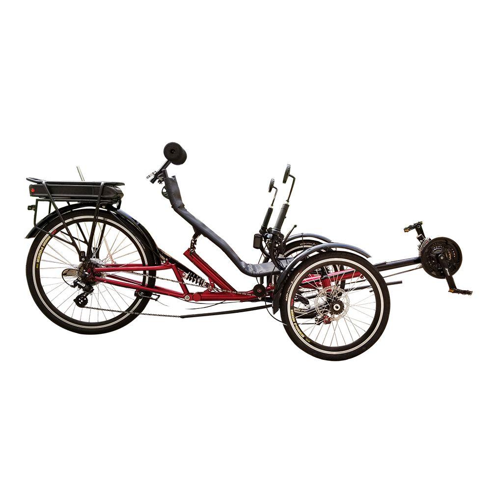 Педаль 250watt 36V 12Ah электрический помощник для взрослых Recumbent Trike