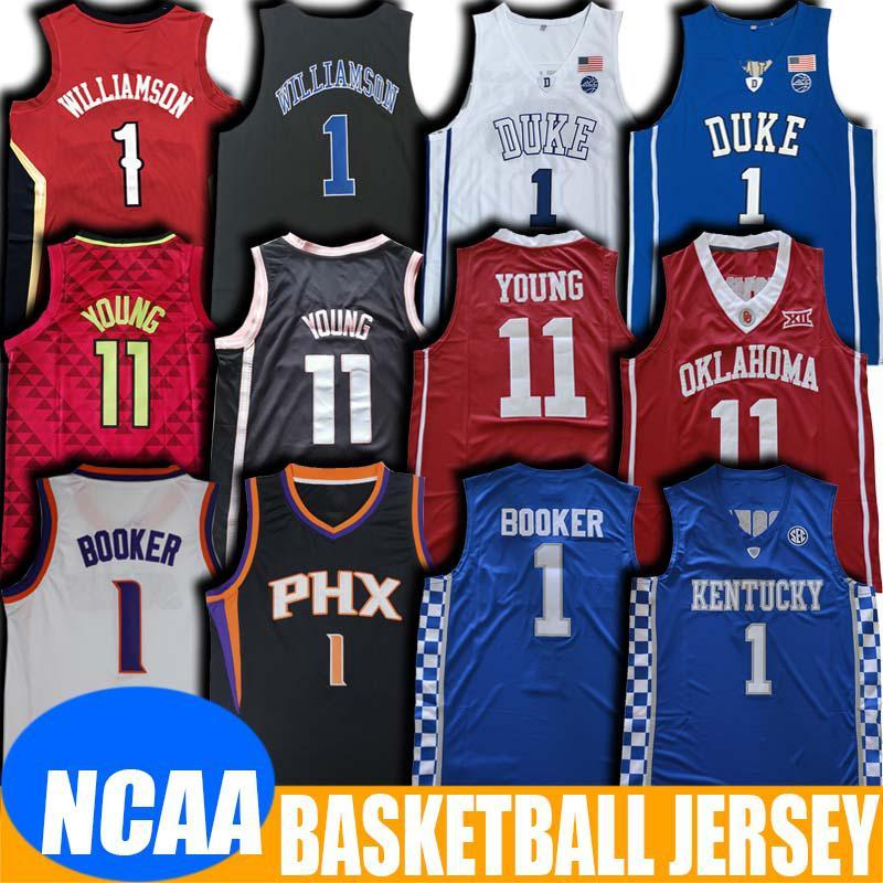 NCAA NCAA Kentucky Devin 1 Booker Jersey Trae 11 Giovani maglie Duke Zion Jersey Williamson Charles Jersey Barkley College Basket Blay Jersey