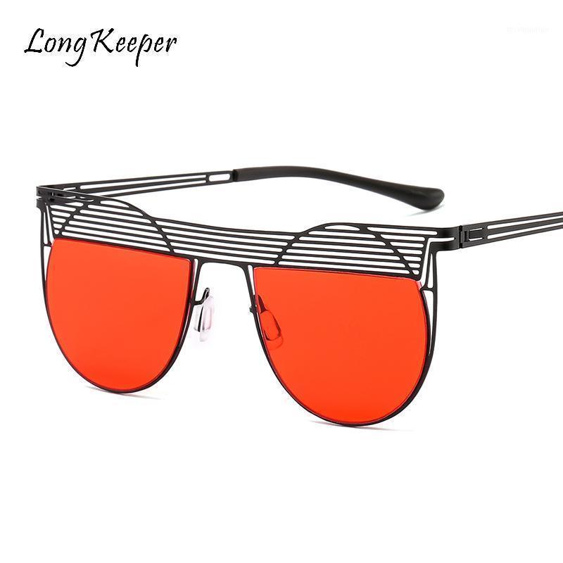 2020 женские полукругные солнцезащитные очки ретро металлические Стимпанк Солнцезащитные очки круглые негабаритные женщины панк оттенки очки мужчины женщины UV4001