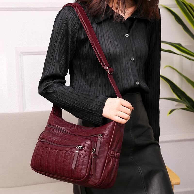 Women Soft Leather Shoulder Bags Female Crossbody Bags For Women Ladies Designer Commuter bag