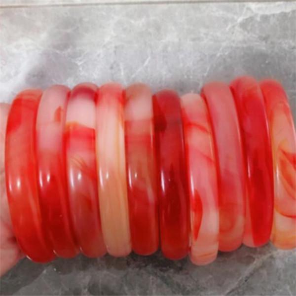 Оптовая продажа горячей продажи сорт чистый натуральный нефритовый браслет браслет нефрита браслет с сертификатом 10шт красный зеленый Y6252