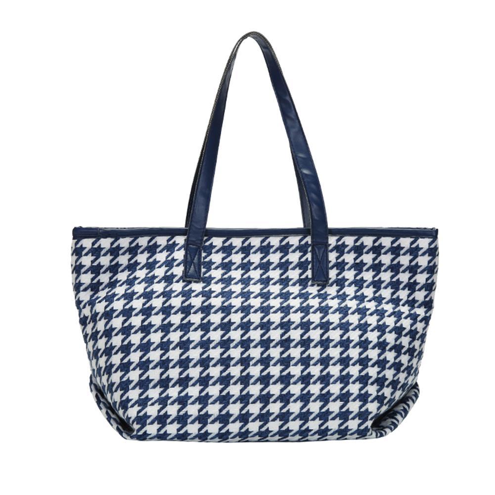 HBP Femmes Sac à bandoulière Haute capacité PU Tote Cuir pour femme Sac à main Pur pliable Bags de voyage réutilisable Bleu