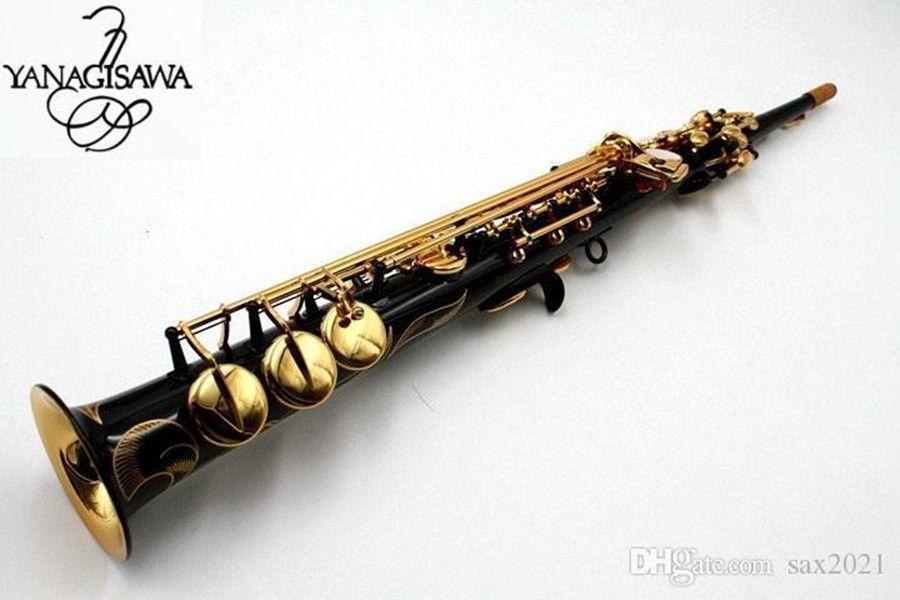 Yanagisawa Soprano Saxophone S901 Strumenti musicali B MusicL Flat Musicl Black Golden Key Soprano Sax con cassa Spedizione gratuita