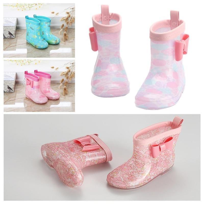 Baby Girls Rain Boots Bambini Beauty Bow Brow Toddler Scarpe in gomma Moda Gelatina Rainboots A3M4