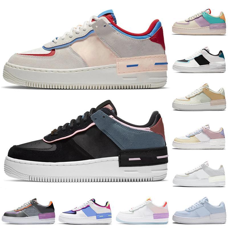 force 1 af1 one shoes shadow 패션 플랫폼 신발 그림자 남성 여성 운동화 스케이트 보드 트리플 블랙 화이트 세일 남성 트레이너 스포츠 스니커즈 scarpe chaussures