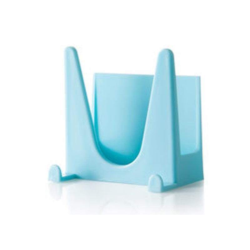 Настенные висит типа горшок Держатель крышки многоцелевая пластиковая двухсторонняя лента для хранения стойки твердых популярных с синим белым зеленым цветом 0 89jy j1