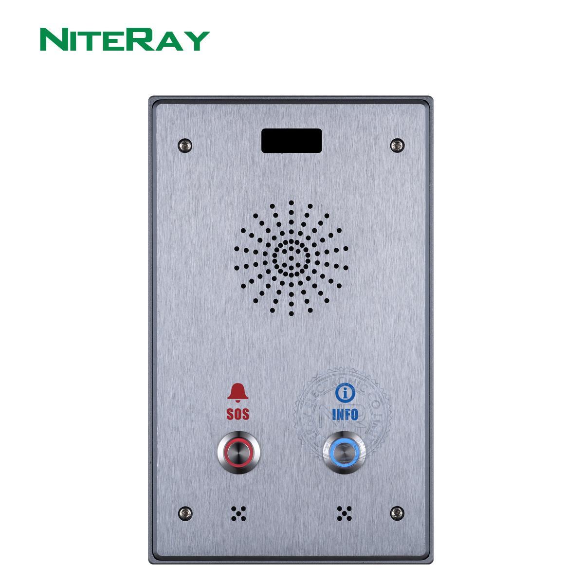 Dual Button SIP PORTE AUDIO Téléphone Porte-sonnette Intercom Assistance Contrôle d'accès, Interphone et diffusion Y1128