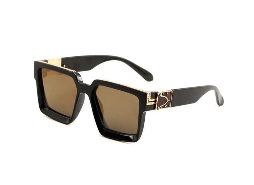 Hot Herren- und Damen-Sonnenglas-Luxus-Sonnenbrillen-Vollbild-Vintage-Designer-Sonnenbrillen für Männer glänzendes Gold-Logo heißer Verkauf von Gold überzogenen Top N Njaw