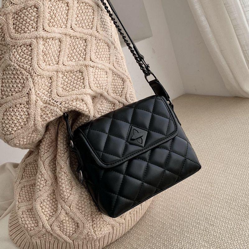 Nueva moda Moda rombo cadena del hombro Messenger Bag Todo -match pequeña cubierta de bolsas de las mujeres C1116