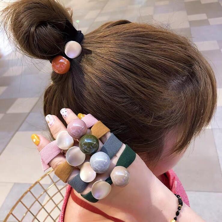 DY Взрывов стиль Butterscotch мяч галстук волос головы веревка корейская версия маленькая свежая мода все матча волосы три подарки для женщин
