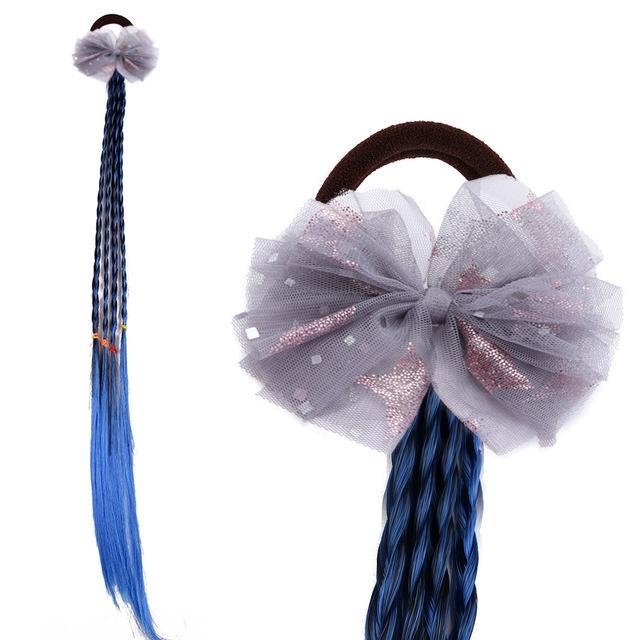 8pcs New 4.5inch Lace Fitary Glitter Bowknot Twist Parrucca Fascia Elastico Hairband Hair Head Hop Holder Baby Girls Accessori per capelli