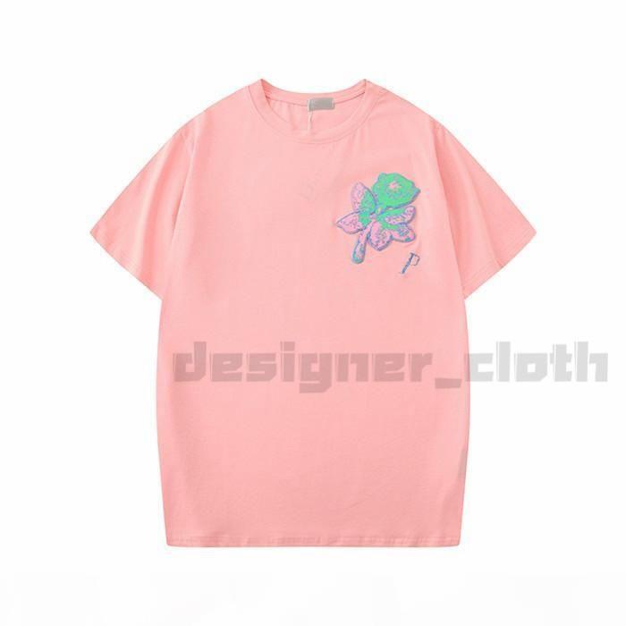 20s verão quente vender mulheres designer t camisas flor moda rosa bordado bordado manga curta senhora camisetas roupas casuais tops roupas
