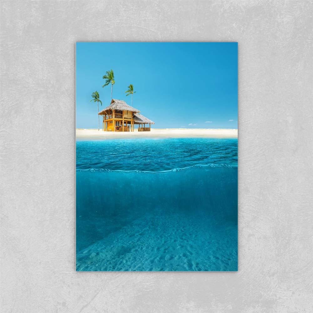 Decorado quadro abstrato arte tintas na tela design abstrato de água split diy lona pintura a óleo na decoração da parede de lona 24x36 polegadas