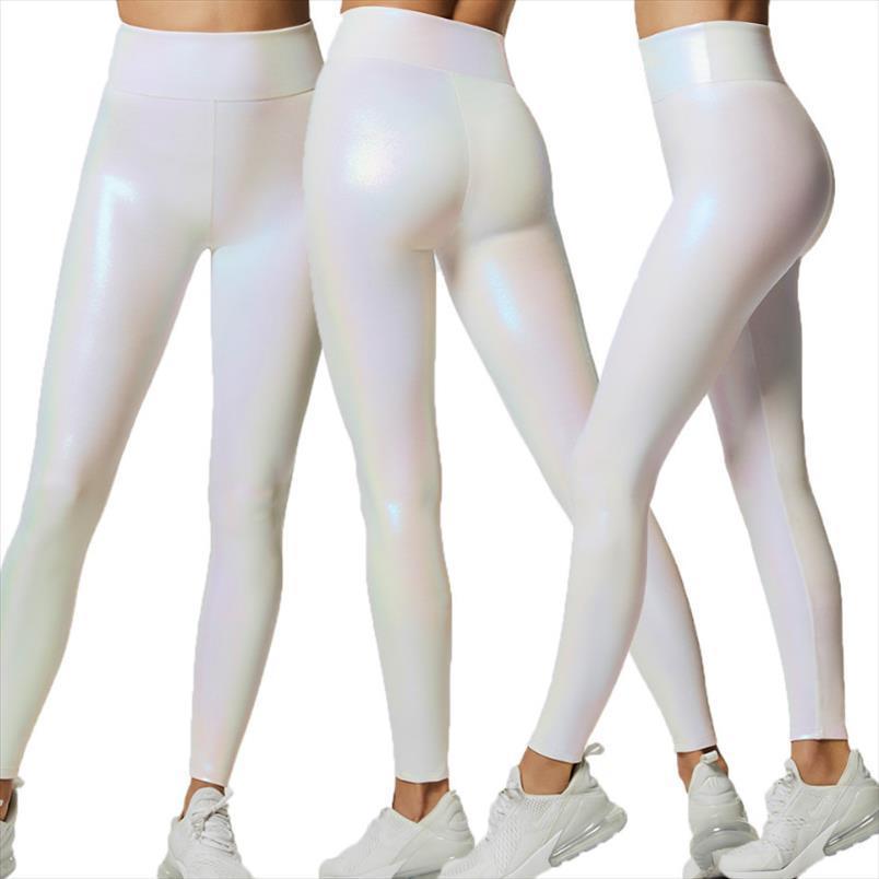 Yeni Kadın Moda Yoga Egzersiz Spor Parlak Spor Pantolon Tayt Spor Streç Pantolon Katı Pantolon Drop Shipping